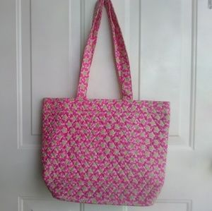Kate and Sarah quilted tote